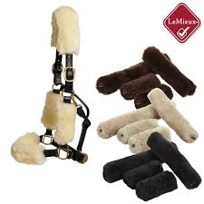 Picture of head collar with lambskin covers