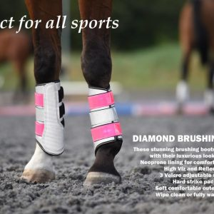 Picture of diamond brushing boots in use